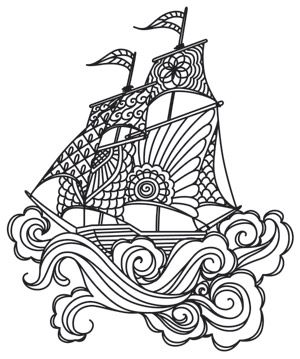Lost at Sea | Urban Threads: Unique and Awesome Embroidery Designs