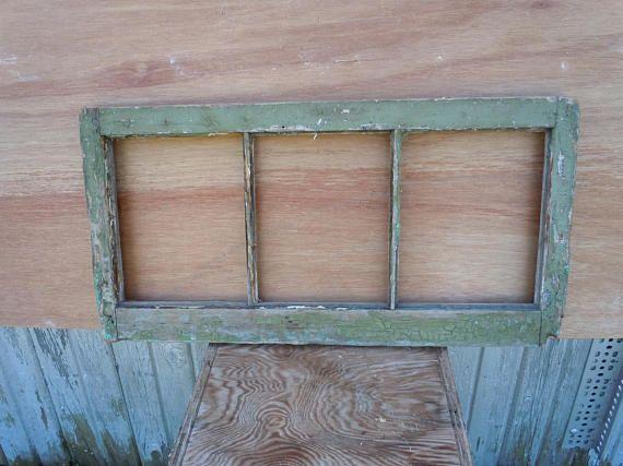Antique Window Frame Three Pane Window Sash
