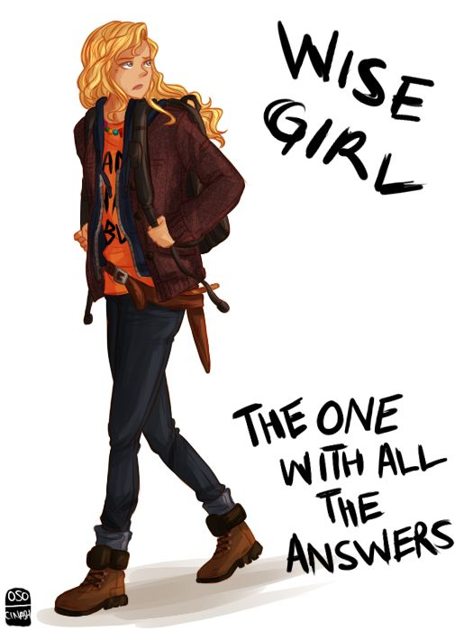 Annabeth is totally a great role model for young girls. For young girls to look at her and realize that Annabeth doesn't need a man in life, and to see her as a smart and independent young woman is amazing. Thanks Rick Riordan for the amazing characters you have given us in your amazingly wonderful novels and series.