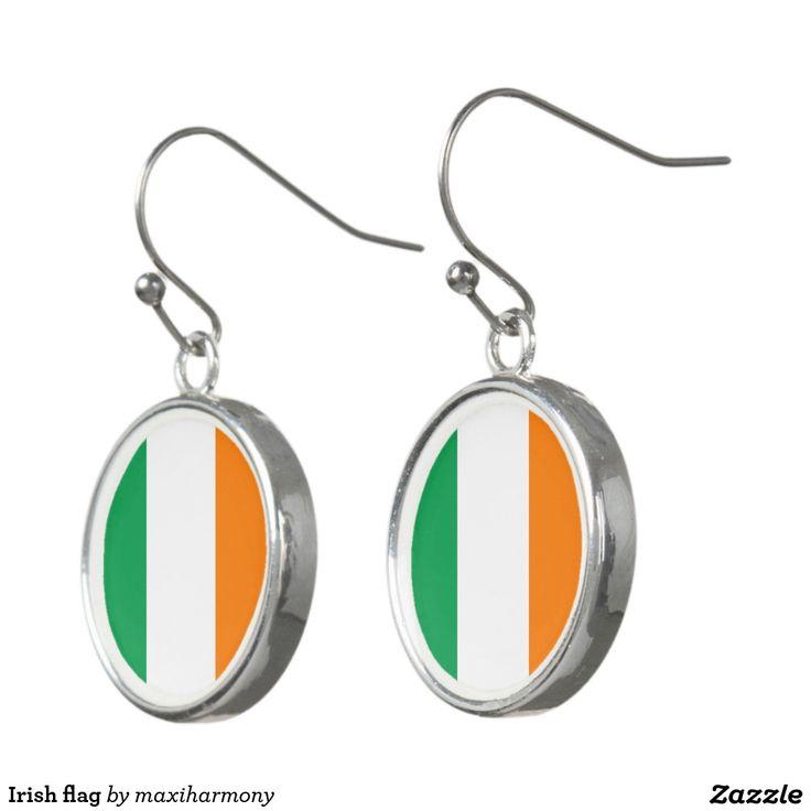 Irish flag earrings