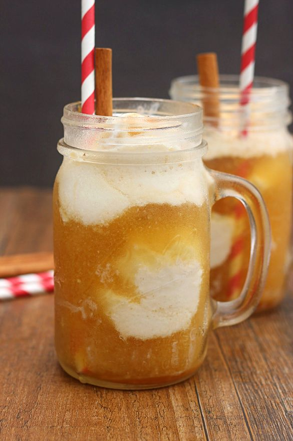 Apple Cider Floats. Delicious and easy ice cream floats that are made using apple cider. These are a great treat that can even be made dairy-free.