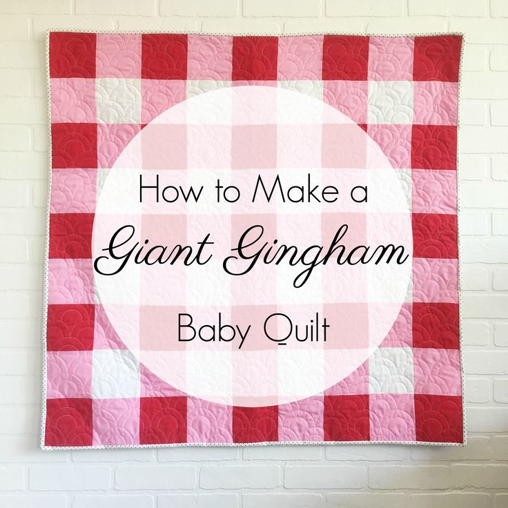Make a baby gingham quilt by following these simple instructions. It's simple construction makes it a perfect pattern for beginners!
