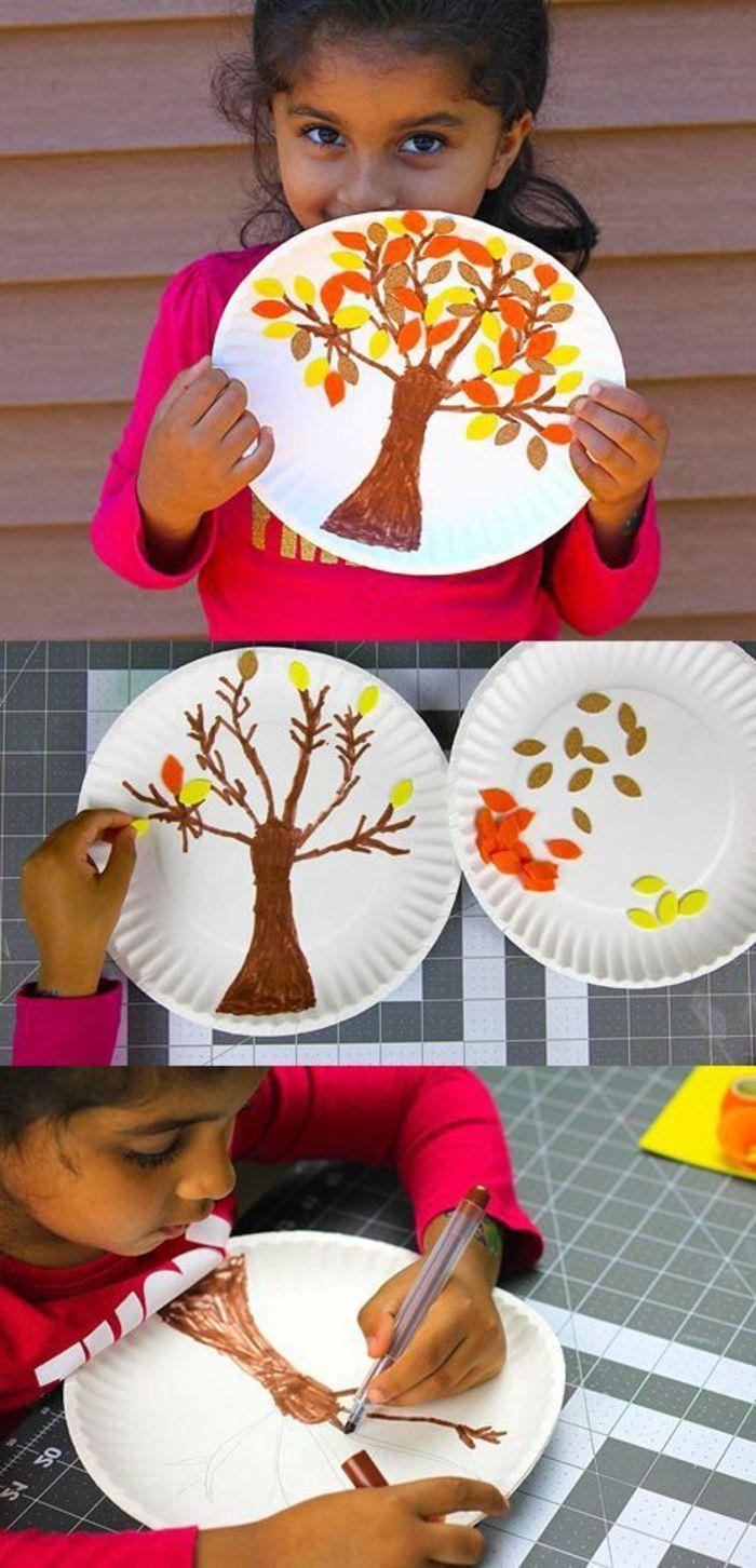 un dessin sur assiette en papier réalisé au feutre et