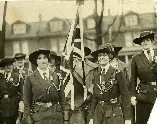 Lady-Baden-Powell and Sarah Warren (Chief Commissioner Canadian Girl Guides 1922-1942) by Girl Guides of Canada, via Flickr