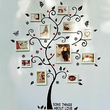 Tree Wall Stickers White Picture Frames, Set of 8 - USD $ 89.99