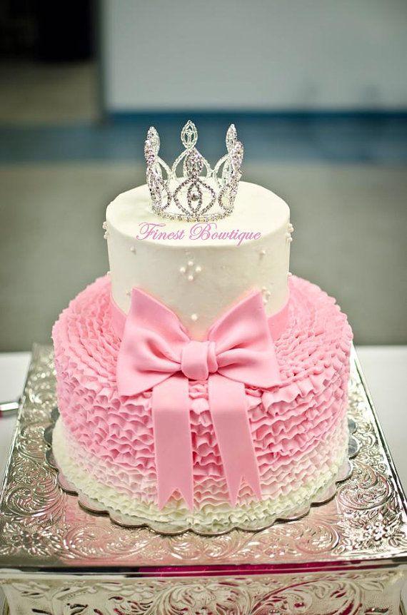 SWAROVSKI Crystals MINI CROWN Princess Tiara - c1751 - Photo Prop . Flower Girl Mini Crown . Baby Shower Gift . Newborn Headband . Crown