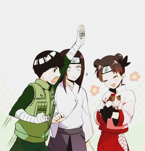 62 Best Team 9 : Hyuga Neji , TenTen , Rock Lee & Maito
