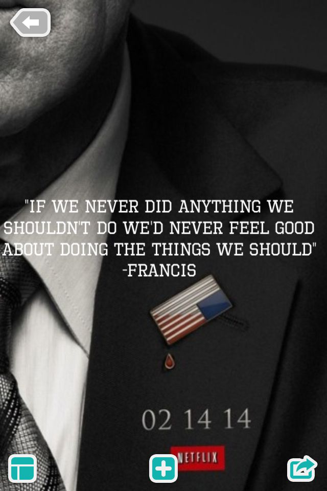 House of cards francis frank