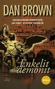 Tiedettä palvova salaseura valitsee kohteekseen paavin valintaan valmistautuvat kardinaalit. Kuka pystyy päihittämään paholaisen? Hyytävää jännitystä, järisyttäviä paljastuksia Da Vinci -koodin tekijältä.