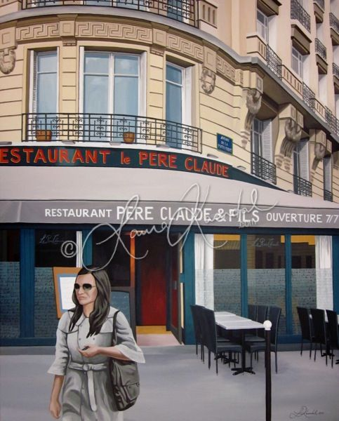Pere Claude, Paris by Laura Kaardal, Acrylic on Canvas | 24x30x1.5"