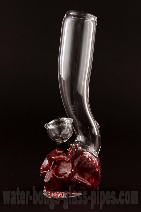 Skull Mini Glass Bong - red $43.80 http://www.water-bongs-glass-pipes.com/skull-mini-glass-bong-red/d-36590/?affid=453