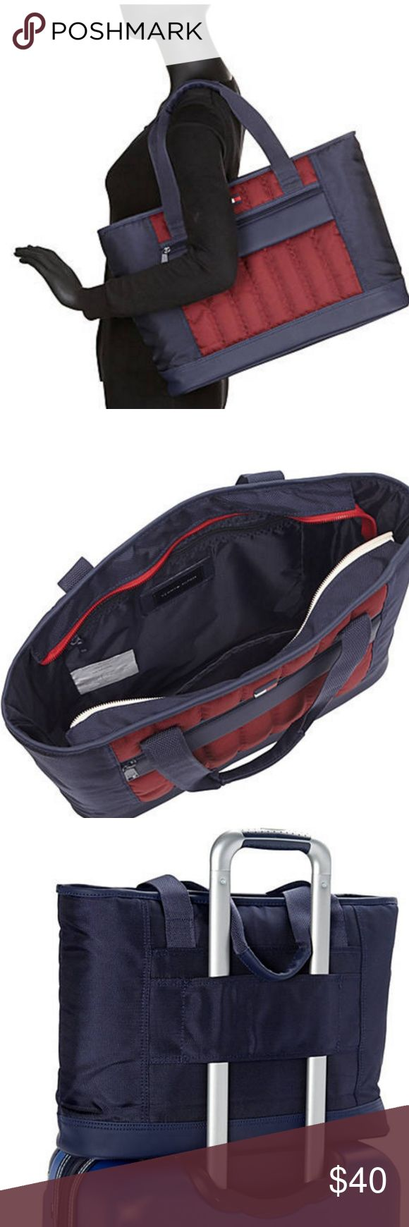 "Tommy Hilfiger Classic Sport 17"" Weekender Tote This 17"" Shopper Tote is a multi-functional bag that allows you to pack your clothes ion the flight and your towels and swimsuit to the beach. Introducing the Classic Sport 17"" Shopper Tote by Tommy Hilfiger.  Brand new, never used.  Very nice bag! Tommy Hilfiger Bags Travel Bags"