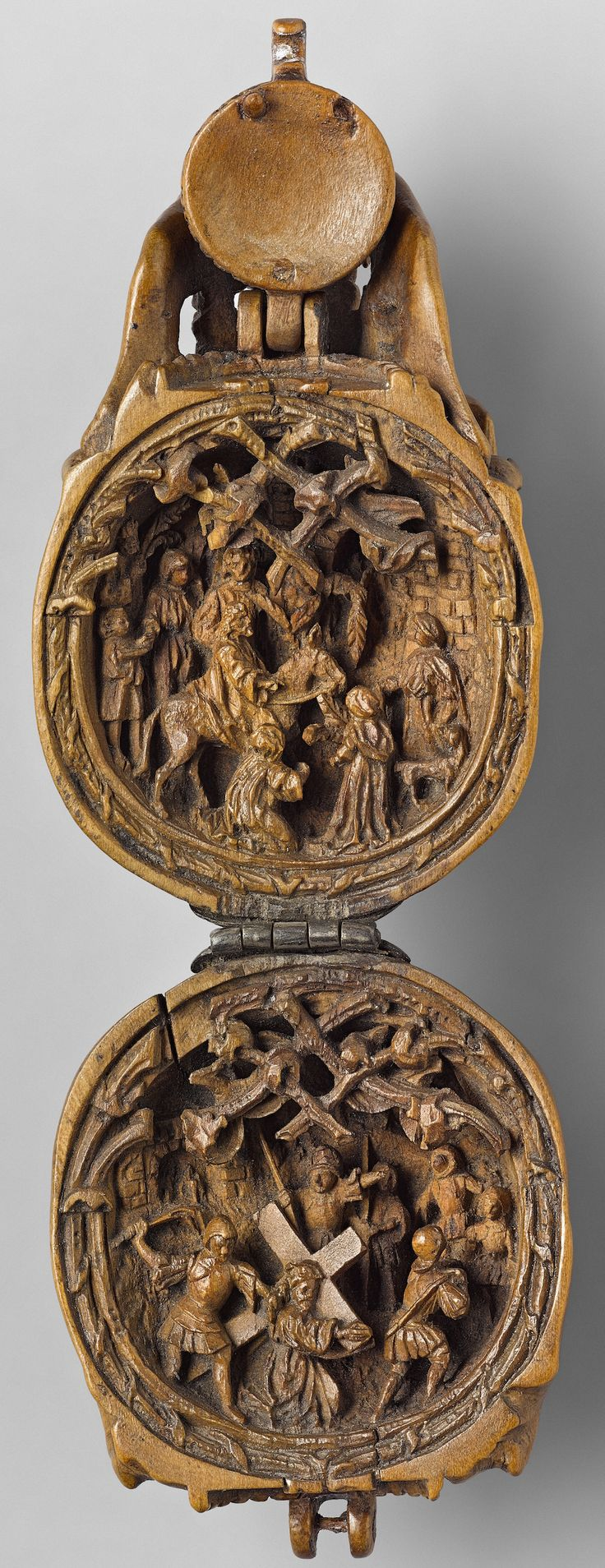 Carved the size of a palm or smaller, these miniature boxwood carvings featuring religious iconography from the early 16th century have long been a mystery to researchers in the field. It is believed that the entire body of work was created during a 30-year window between 1500 and 1530, somewhere in