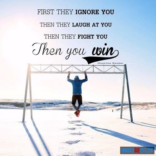 Na początku Cię ignorują...