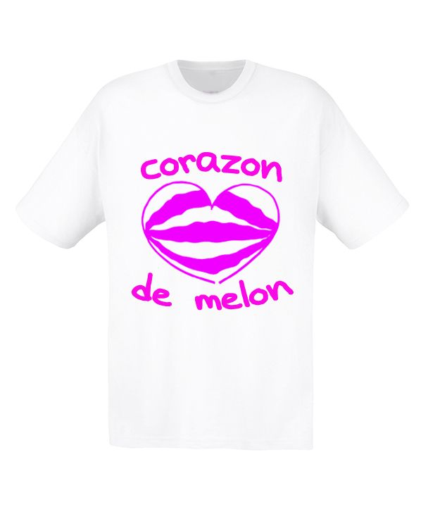 Camiseta 'Corazón de Melon' disponible en www.demascolores.com Gris o Blanca, tallas S a XXL.