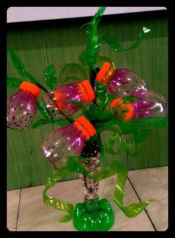 25 unieke idee n over plastic fles bloemen op pinterest plastic bloemen plastic flessen - Ideeen inzendingen ...