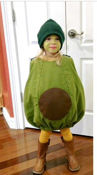 Lucy the Avocado. The best Halloween costume we have had yet.