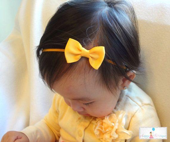 Baby bow headband Baby Headband Petite Merigold by HappyBOWtique, $5.99
