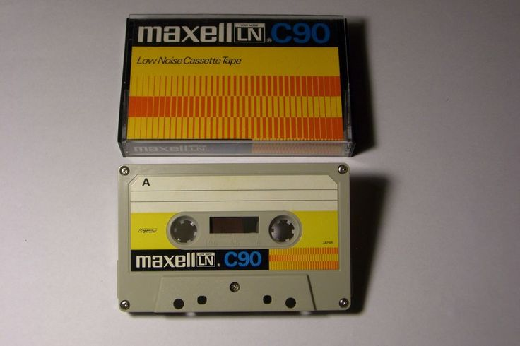MAXELL VINTAGE AUDIO CASSETTE TAPE LN C-90 ( USED )( TYPE I ) (1972-75 ) (JAPAN  #Maxell