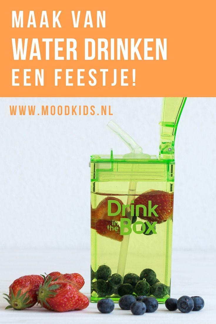 Water drinken is belangrijk. Zeker met warm weer is het belangrijk dat je kind voldoende drinkt. Maak van water drinken op school een feestje met deze suggesties voor de Drink in the Box van webshop Hello Lunch. #dutchbento