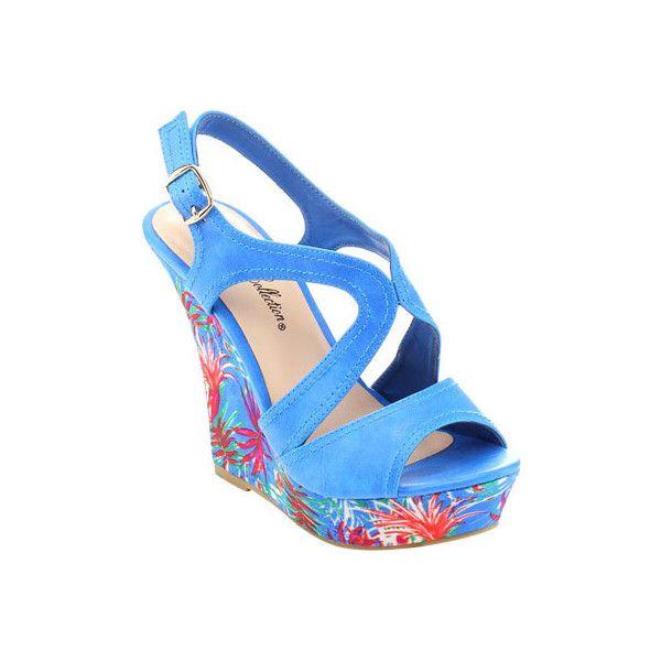 1000  ideas about Blue Wedge Heels on Pinterest