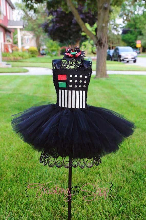 Darth Vader Short Tutu Dress by FrostingShop on Etsy