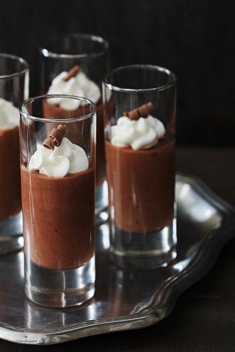 "[recipe] Mudslide Pudding Shots: ""These are a fast and easy treat that you can whip up quickly. To shortcut the hands-on time further, just serve the boozy pudding mixture in a glass or tart shell"""