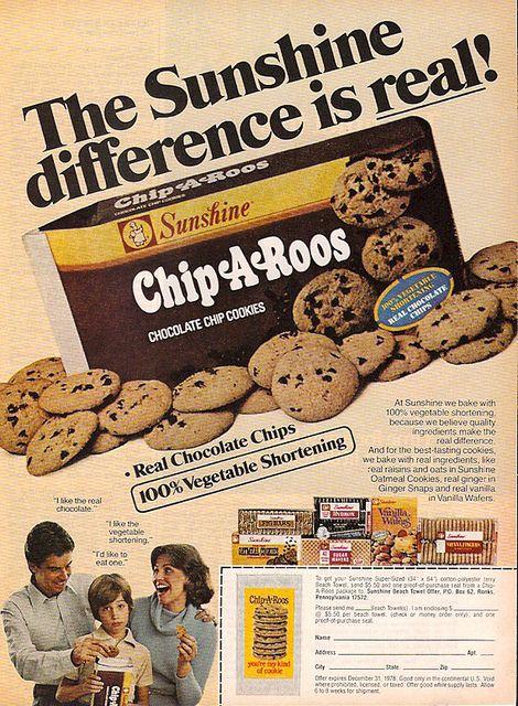 spaghettios ads | 1978 Sunshine Chip A Roos Chocolate Chip ...