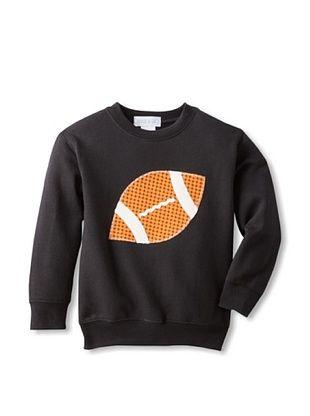 67% OFF Tilly & Jax Boy's Football Crew Neck Sweatshirt (Black)