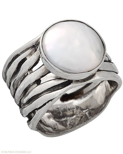 If she were to wear a Ring, this would be it. Coin Pearl, Sterling Silver.
