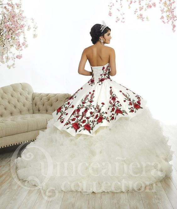 ef0954b0d Rose Charro Quinceanera Dress by House of Wu 26892 in 2019