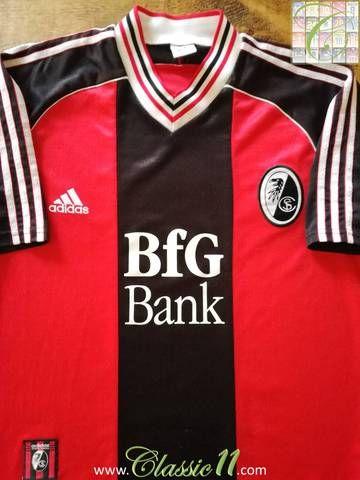 Official Adidas SC Freiburg home football shirt from the 1998/99 Season.