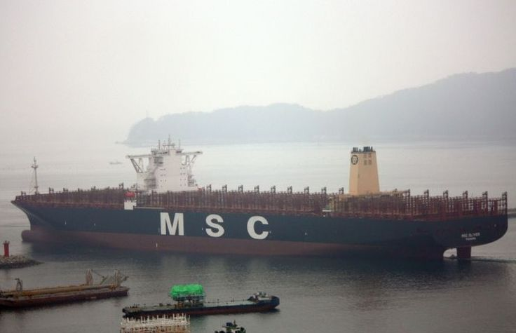 MSC Oliver is owned by Mediterranean Shipping Company (MSC) and is flagged in Panama with tonnage of 196,000 DWT, one of the largest container ships of the world
