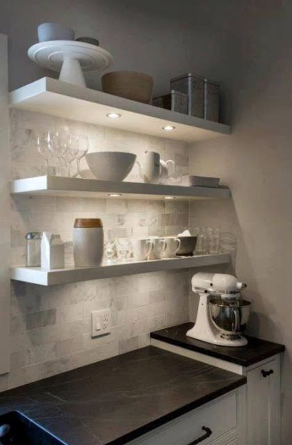 Add shelves in your kitchen, they look amazing | Archishere
