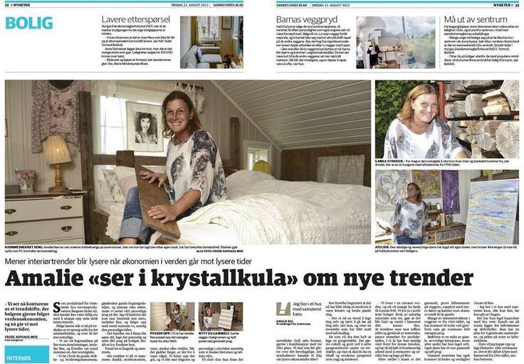 Jeg om trender 2013/2014 i Sandefjord Blad.