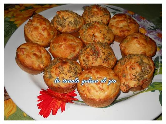 pizza muffins supermorbidi | la tavola golosa di gio