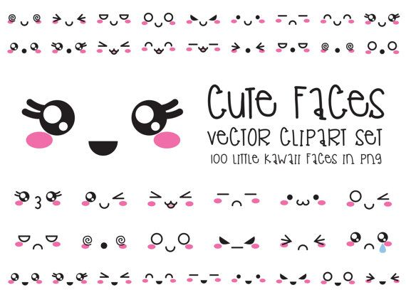 Hey, I found this really awesome Etsy listing at https://www.etsy.com/listing/255402027/premium-vector-clipart-kawaii-faces-cute