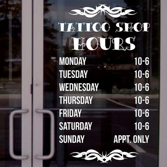 8 best images about business hours decals on pinterest