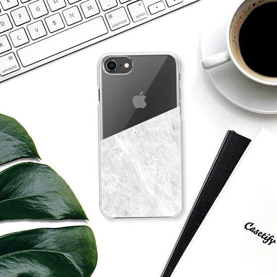 #marble #stone #texture #pattern #black #white #stripe #striped #iphone #case #transparent #clear