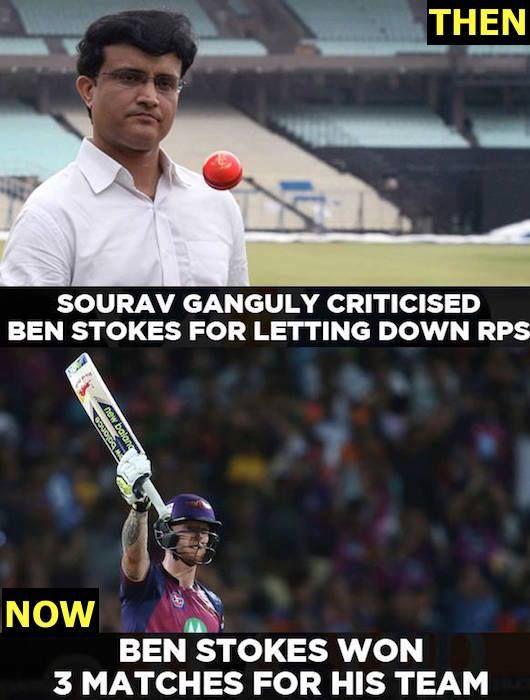 Ben Stokes proved Sourav Ganguly wrong with his three match-winning performances #IPL2017 For more cricket updates visit: http://ift.tt/2gY9BIZ - http://ift.tt/1ZZ3e4d