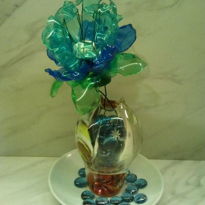 Make a Recycled Plastic Bottle Flower