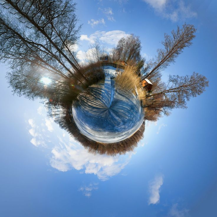 gorgeous image - HDR tiny planet showing frozen lake | HDR photographer