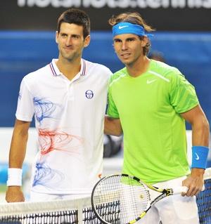 Australian open finalists. Novak goes on to win in 5.  -LOVE IT!