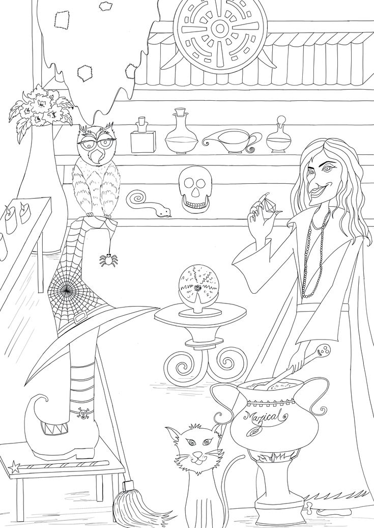 halloween therapy coloring pages - photo#7