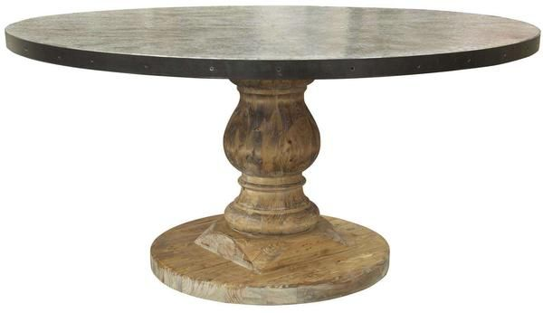 Late 20th Century Zinc Round Pedestal Table 1stdibs Com Pedestal Table Round Foyer Table Pedestal Coffee Table