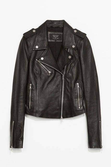 "The Best Of The Basics: The Buys That Defy Seasons #refinery29  http://www.refinery29.com/best-basics-shopping-guide#slide-10  Moto Jacket: ZaraWhy It's A Best Buy: A surefire steal for real leather, this topper has all the required elements of the perfect motorcycle jacket: zipped sleeves, snap closures, and a whole lot of attitude. The R29 Review: ""Bought this on a major sale whim right after the holidays last year, and will never turn back — super-class..."