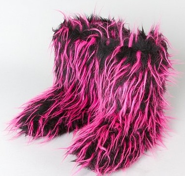 fuzzy boots $3 shipped