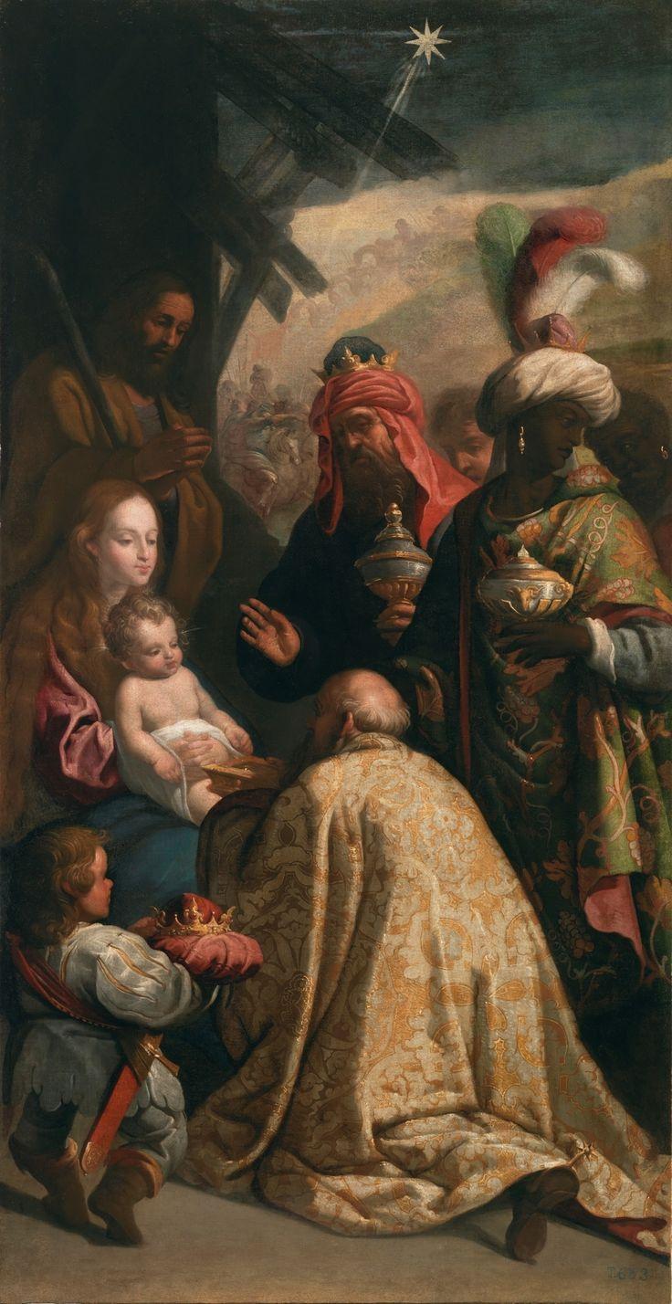 Adoration of the Magi  / Adoración de los Reyes Magos // Siglo XVII // Eugenio Cajés // #Jesus #Christ #Epiphany #Epifanía #ThreeKings #ReyesMagos #gifts #StarofBethlehem