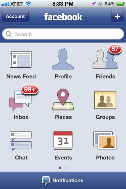 There is no such screen in mobile Facebook now. Deprecated pattern.
