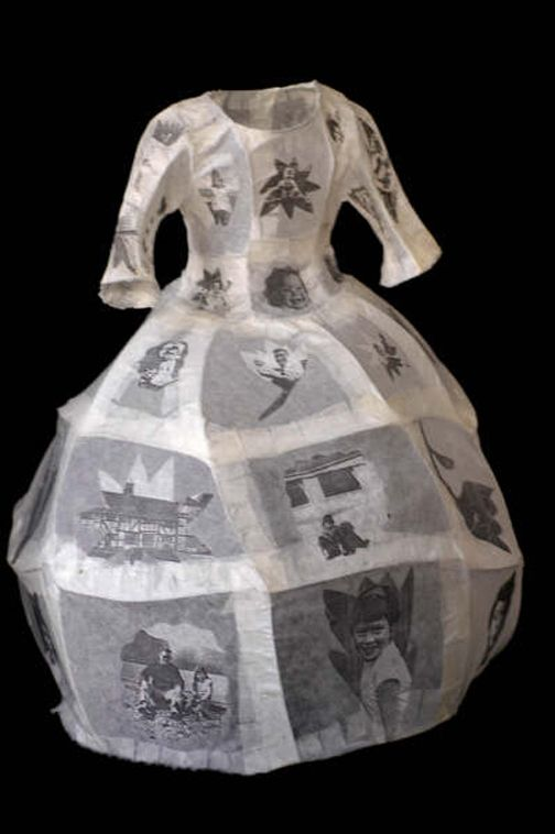 Black and white - dress -   © DENNISON, Lynn - paper and photographic images